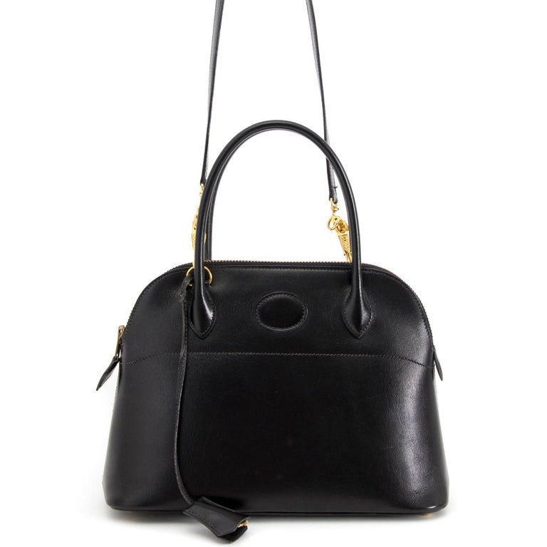 Hermes Black Boxcalf Bolide 27 Bag In Good Condition For Sale In Antwerp, BE