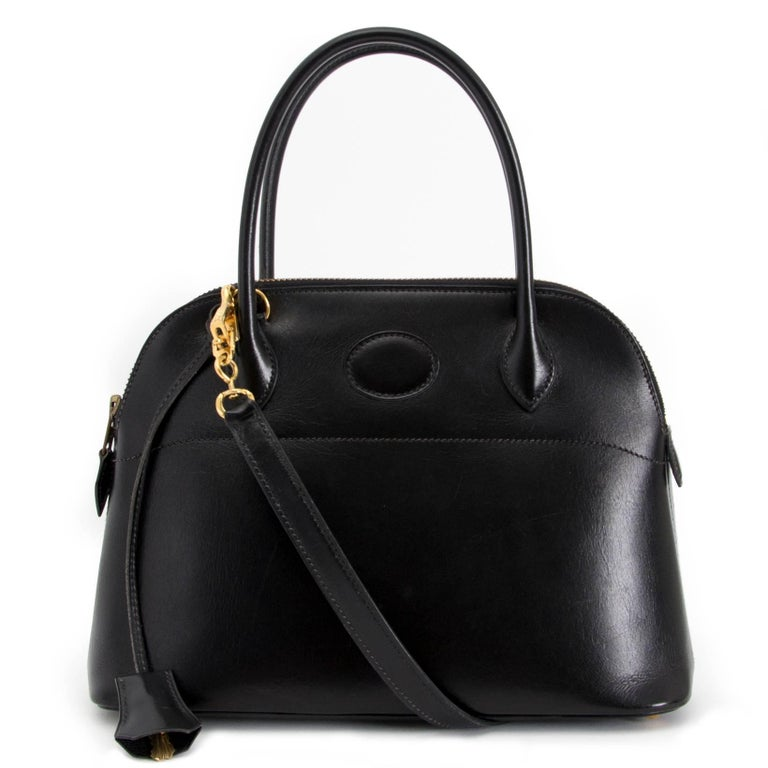 Hermes Black Boxcalf Bolide 27 Bag For Sale 1