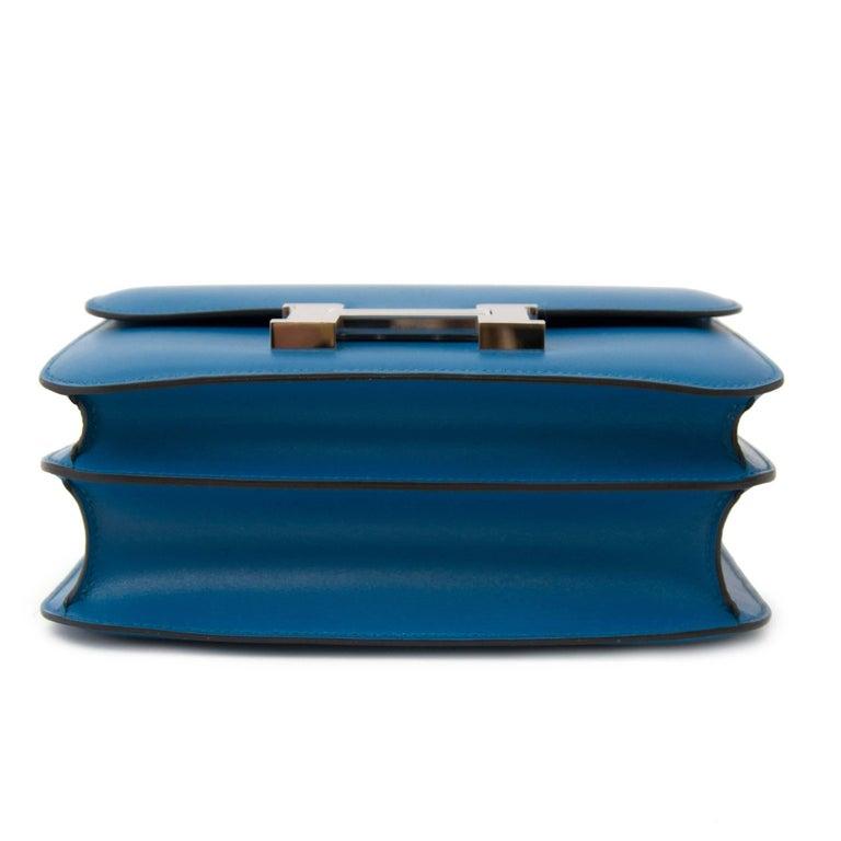 Never Used Hermes Constance III 24 Bleu Izmir Veau Tadelakt PHW For Sale 1
