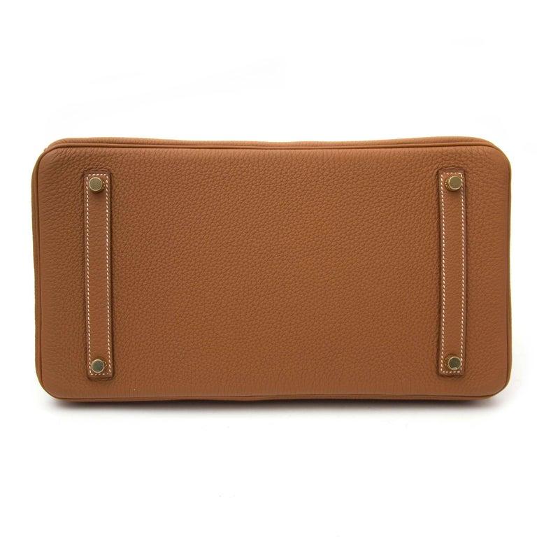 Brown Hermès Birkin 35 Togo Gold GHW