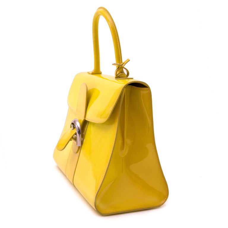 Good Preloved Condition  Rare Delvaux Limited Patent Fluo Yellow Brillant  Turn heads, make waves, carrying this bag will make you feel on top of the world! Very rare limited edition, only 15 pieces have been produced.  This fluo Brillant is one of