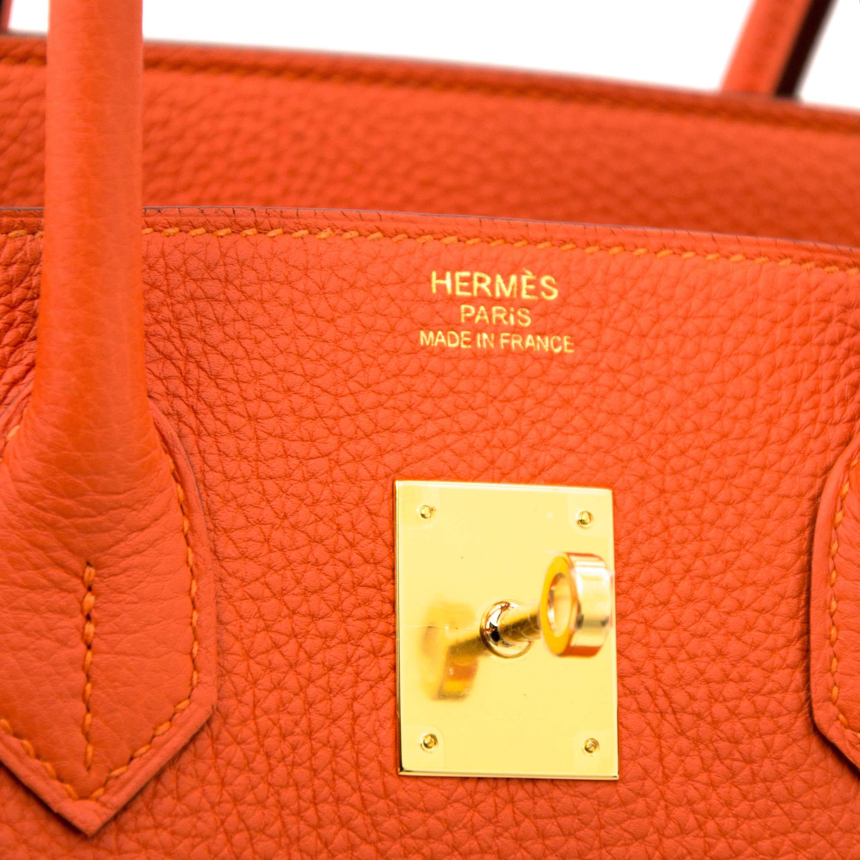 604da7f5e19 Hermès Birkin 35 Togo Feu GHW at 1stdibs