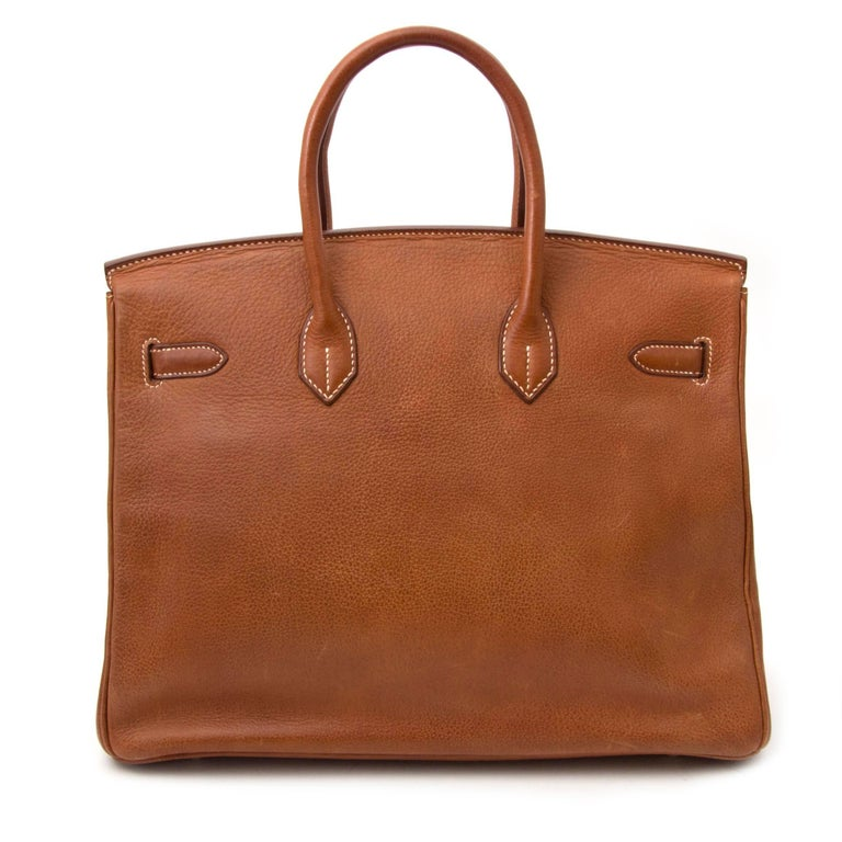 Hermès Birkin 35 Buffalo Leather PHW For Sale at 1stdibs