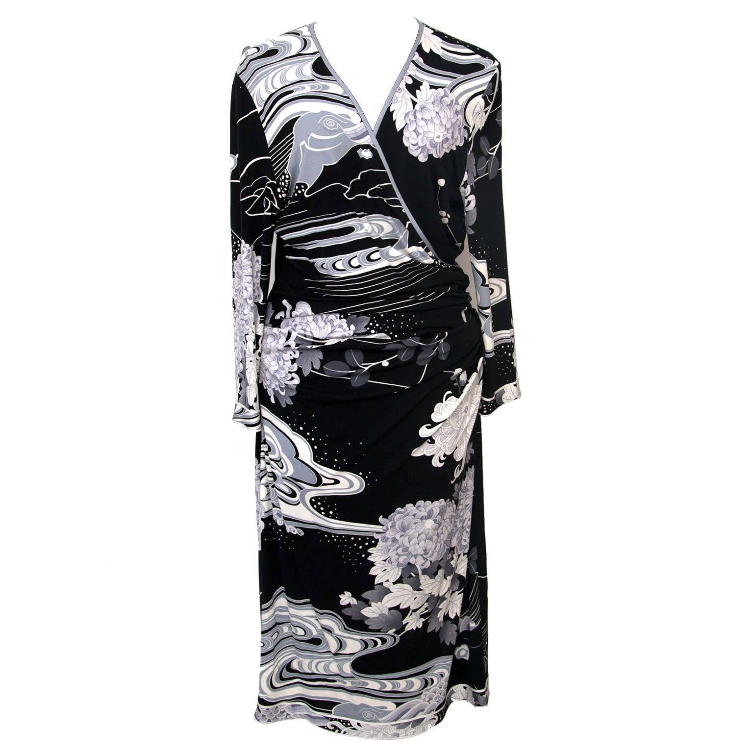 Leonard Black White Dress