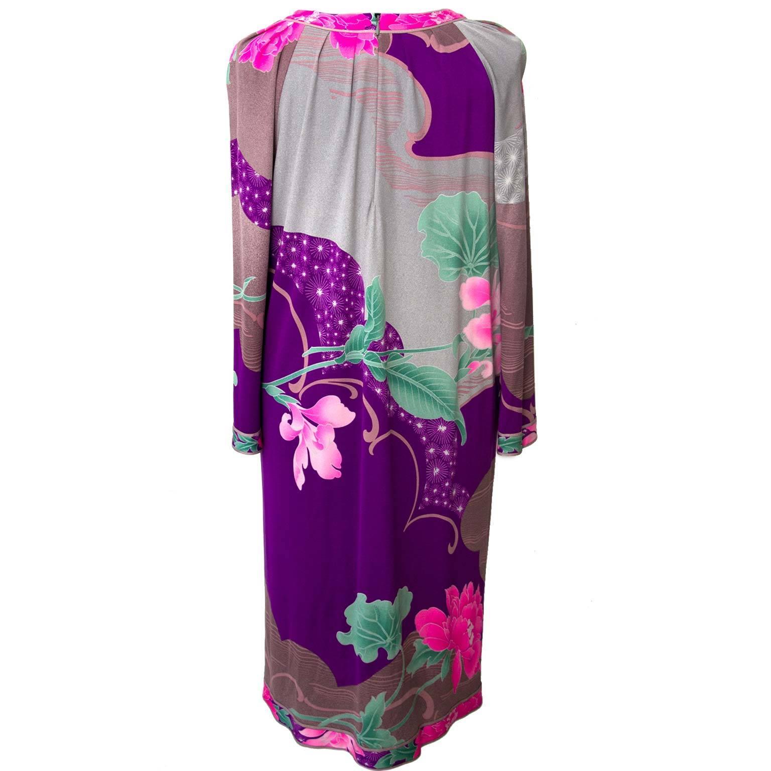 Leonard Purple Pink Floral Dress