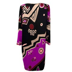 Leonard Purple Black Psychedelic Dress