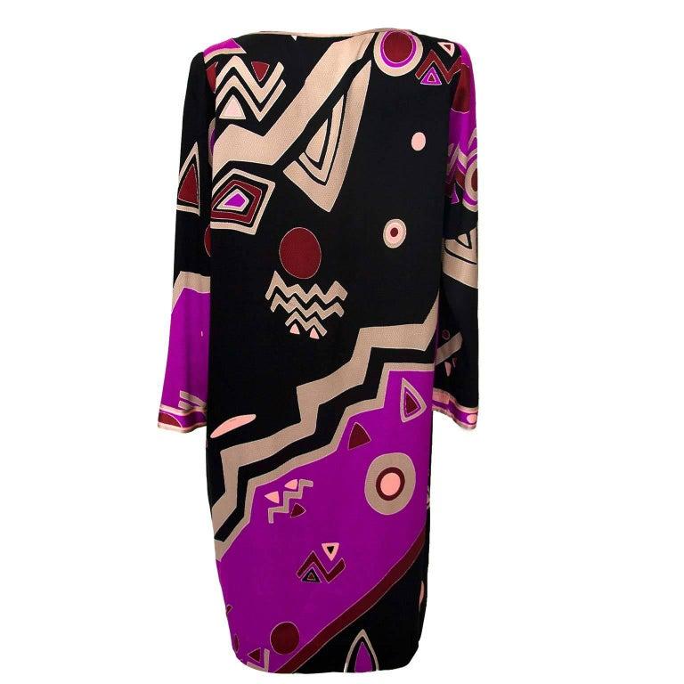 Leonard Purple Black Psychedelic Dress