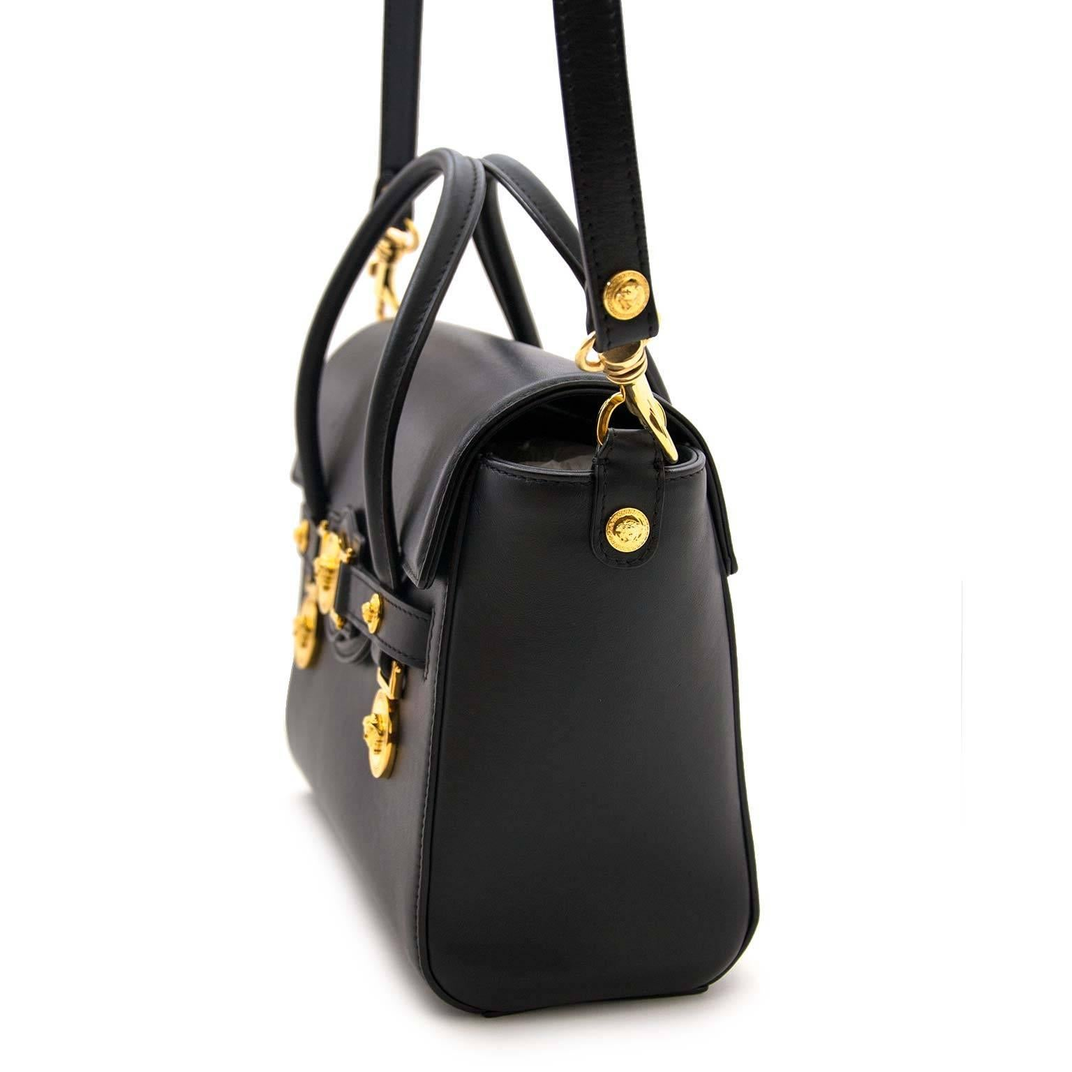 f1b1adcd5a Versace Black Medusa Crossbody Bag at 1stdibs