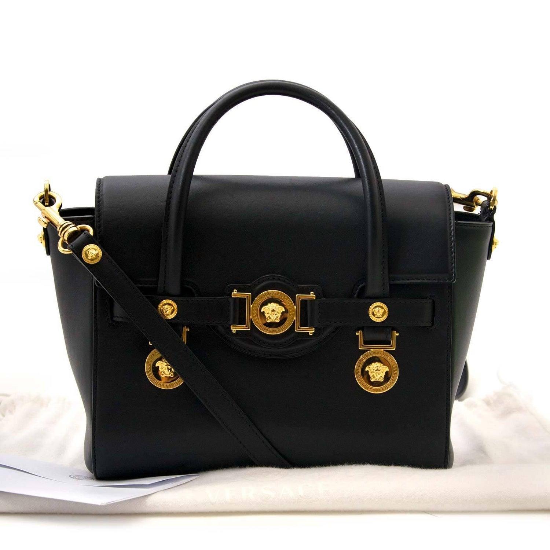 e950c3799f4 Versace Black Medusa Crossbody Bag at 1stdibs