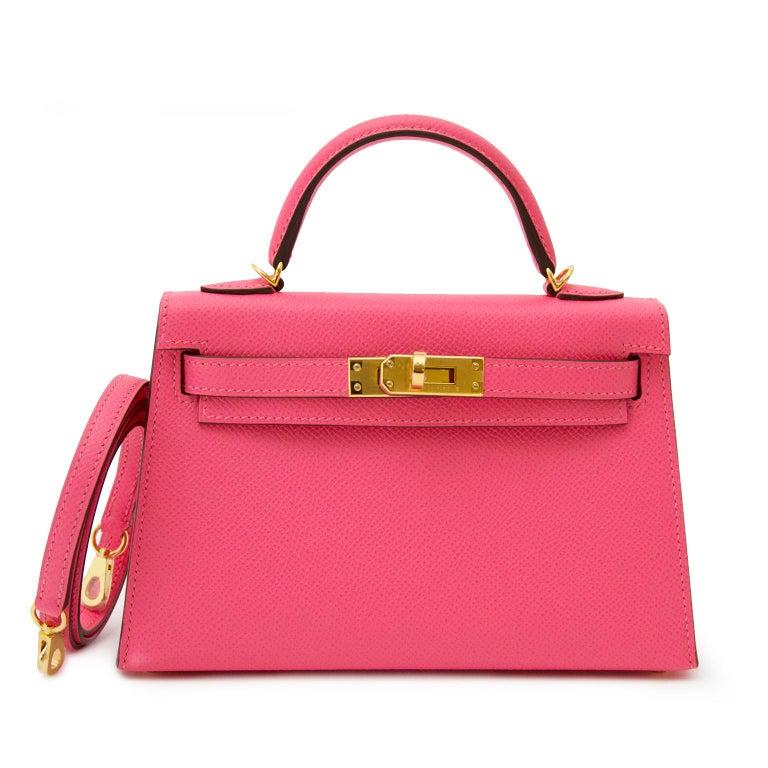 24179c1648b3 Women s or Men s Hermès Kelly II Mini Veau Epsom Rose Azalee GHW Bag For  Sale