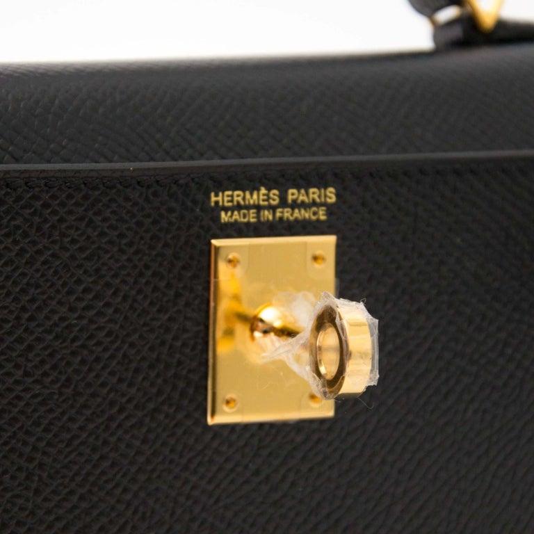 870d9d6ed21f Hermes Kelly Mini II 20cm black epsom GHW Bag at 1stdibs