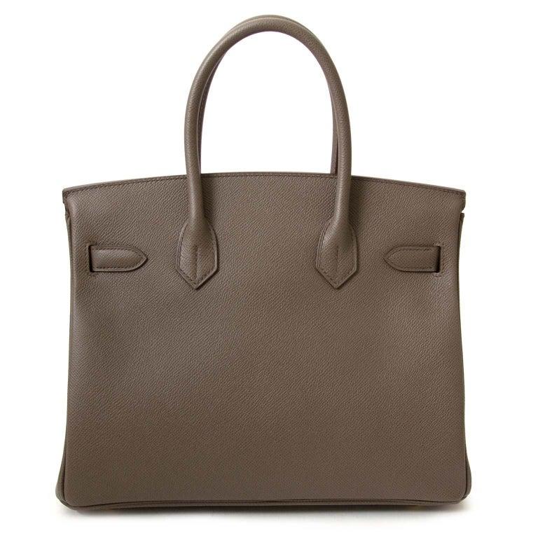 eff54340efad Brand New Hermès Birkin 30 Epsom Gris Etain GHW This Hermès Birkin bag  comes in a