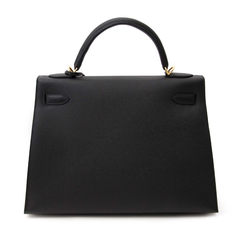 Hermes Kelly 32 Epsom Black GHW In New Condition For Sale In Antwerp, BE