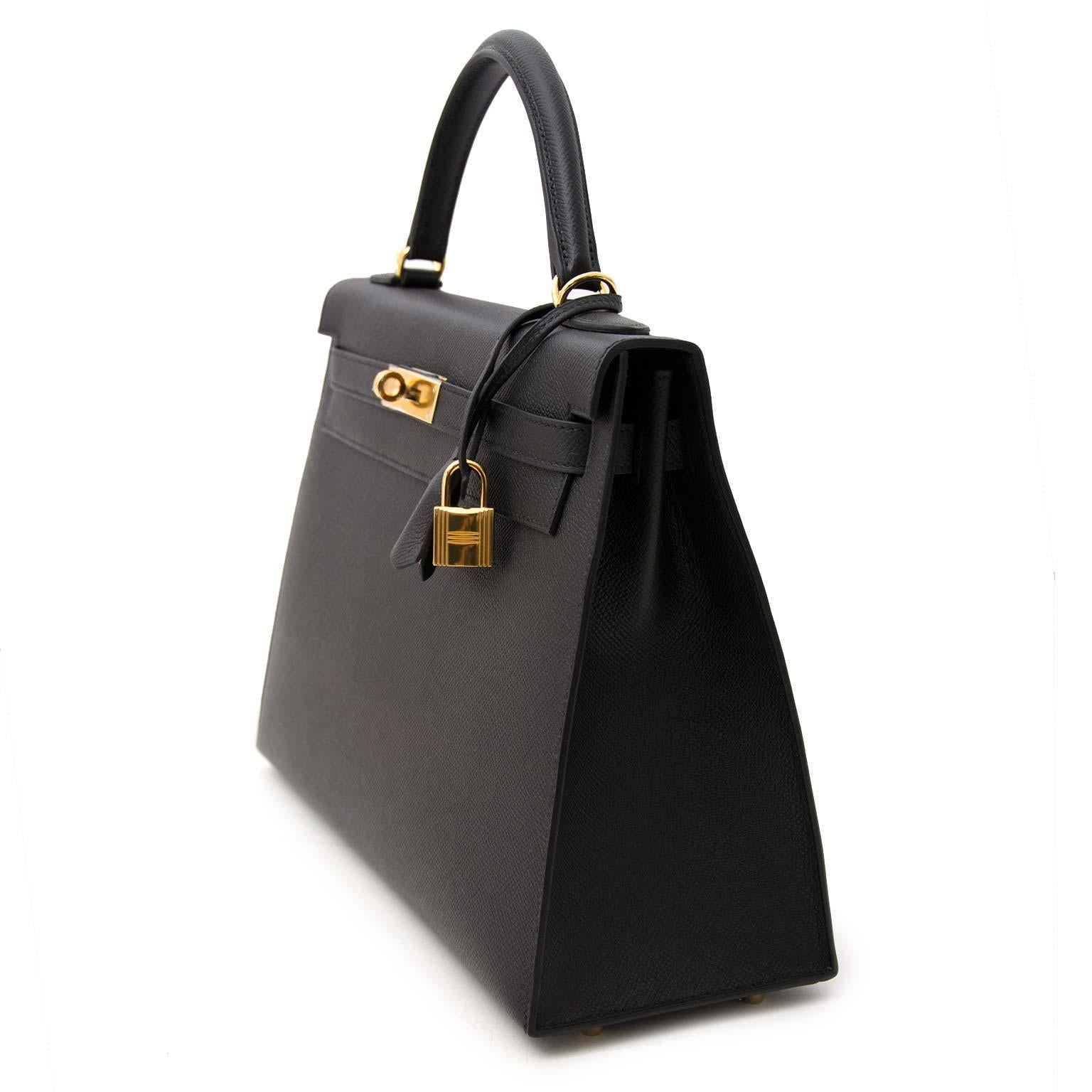 Hermes Epsom At Kelly For Sale 1stdibs Black 32 Ghw QdBeroxCW