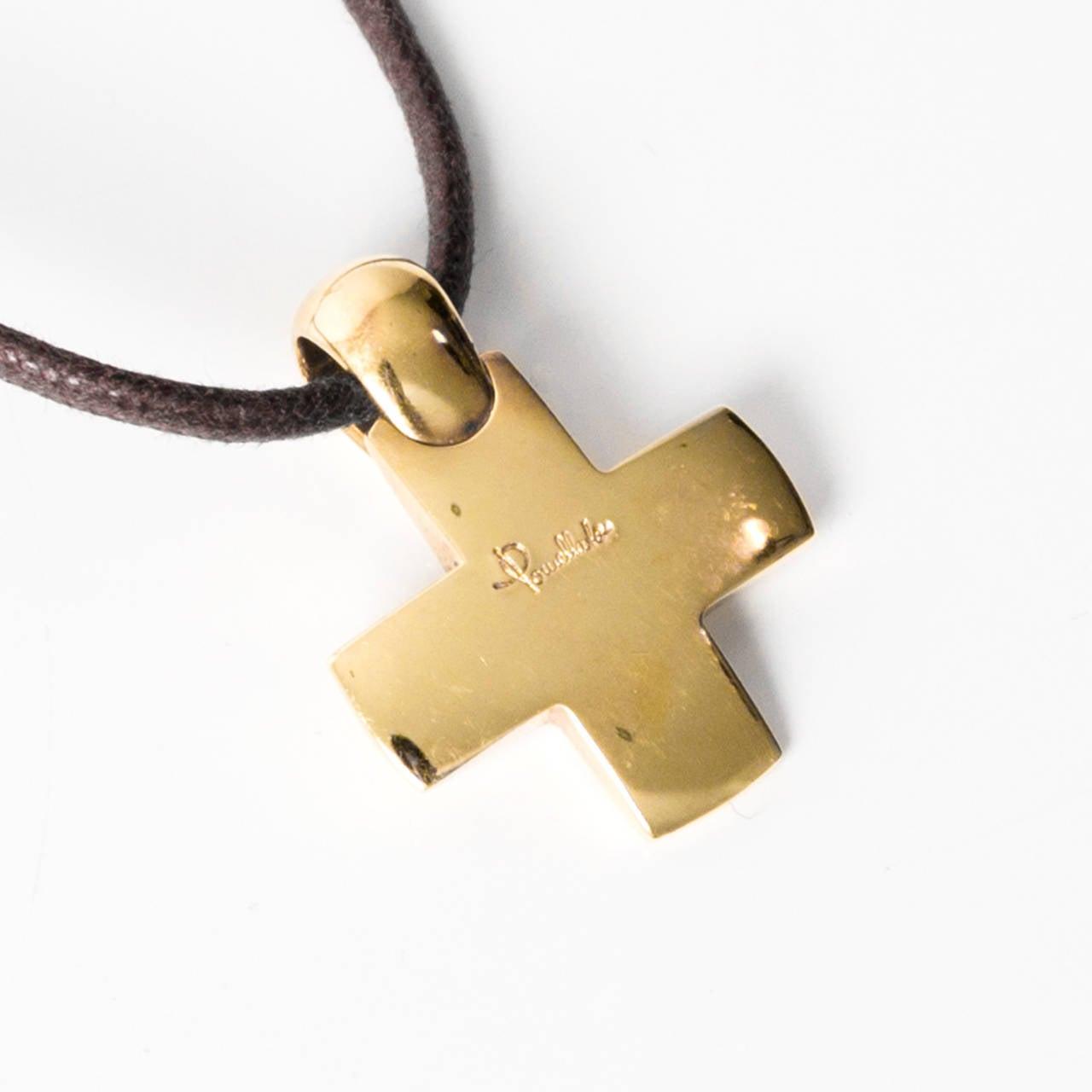 Pomellato 18k yellow gold cross pendant necklace at 1stdibs pomellato 18k yellow gold cross pendant necklace 3 aloadofball Images