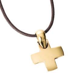 Pomellato 18K Yellow Gold Cross Pendant Necklace