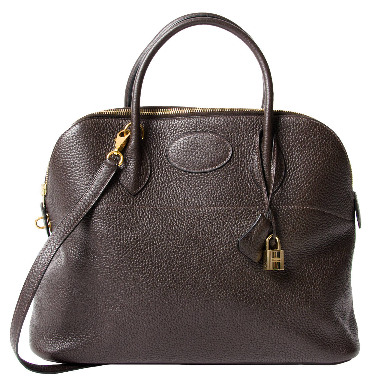 discount hermes bag - Herm��s Bolide 35 Chocolat Brown Clemence at 1stdibs