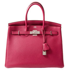 Hermès Birkin 35 Togo Rubis PHW + INVOICE