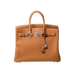 Hermes Birkin 35 Gold Togo NEW
