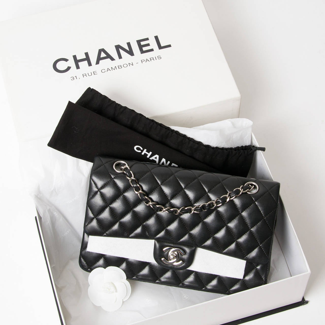 c289f9fa2588 Chanel Black Lambskin Medium Classic Flap Bag This iconic bag is considered  to be one of