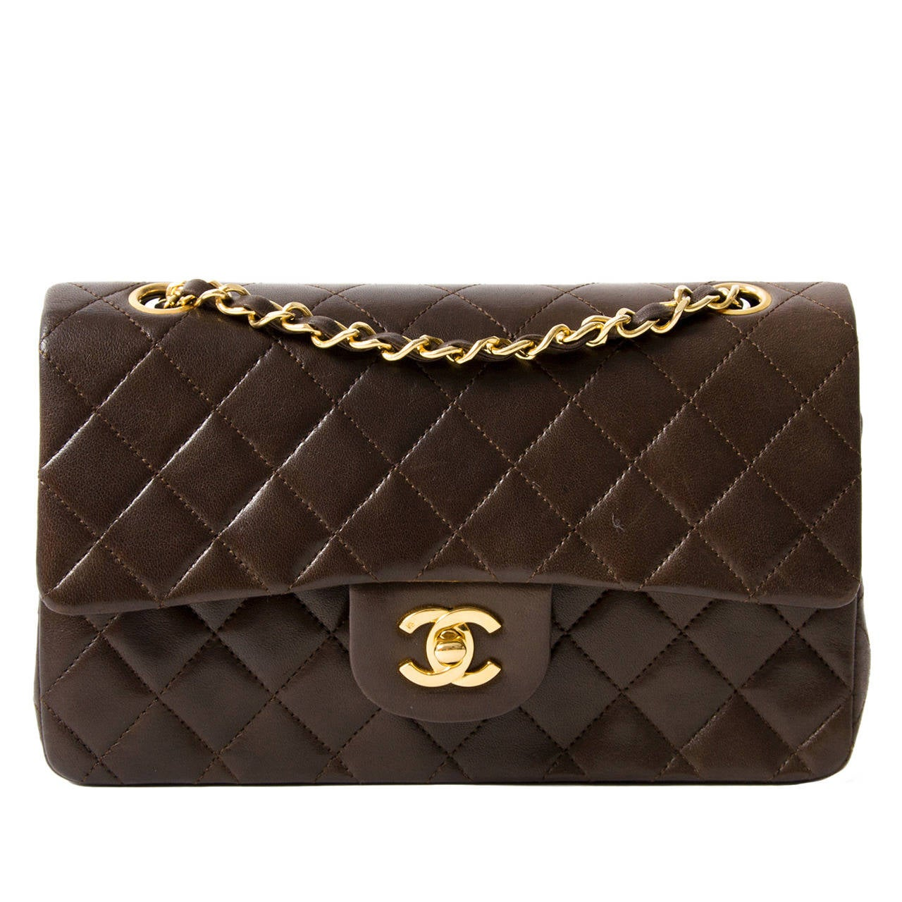8ed3d02831c9 Chanel Small Classic Flap Bag in Chocolate Brown GHW at 1stdibs