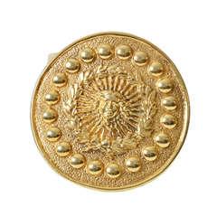 Versace Gold Medusa Waist Belt