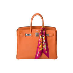 Hermes Birkin 35 Orange Clemence Bag
