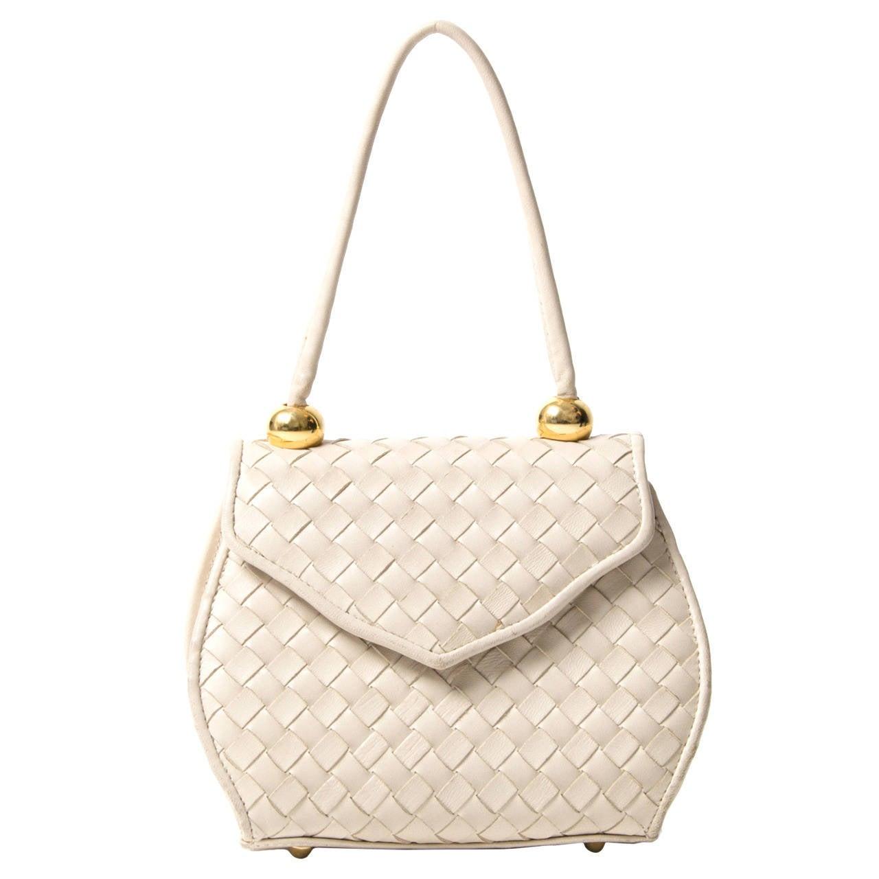 Small Vintage Cream Bag 1