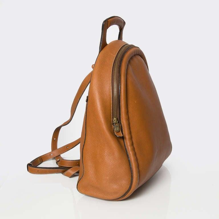 Delvaux Cognac Backpack 3