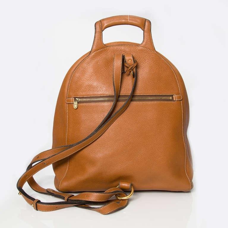 Delvaux Cognac Backpack 2