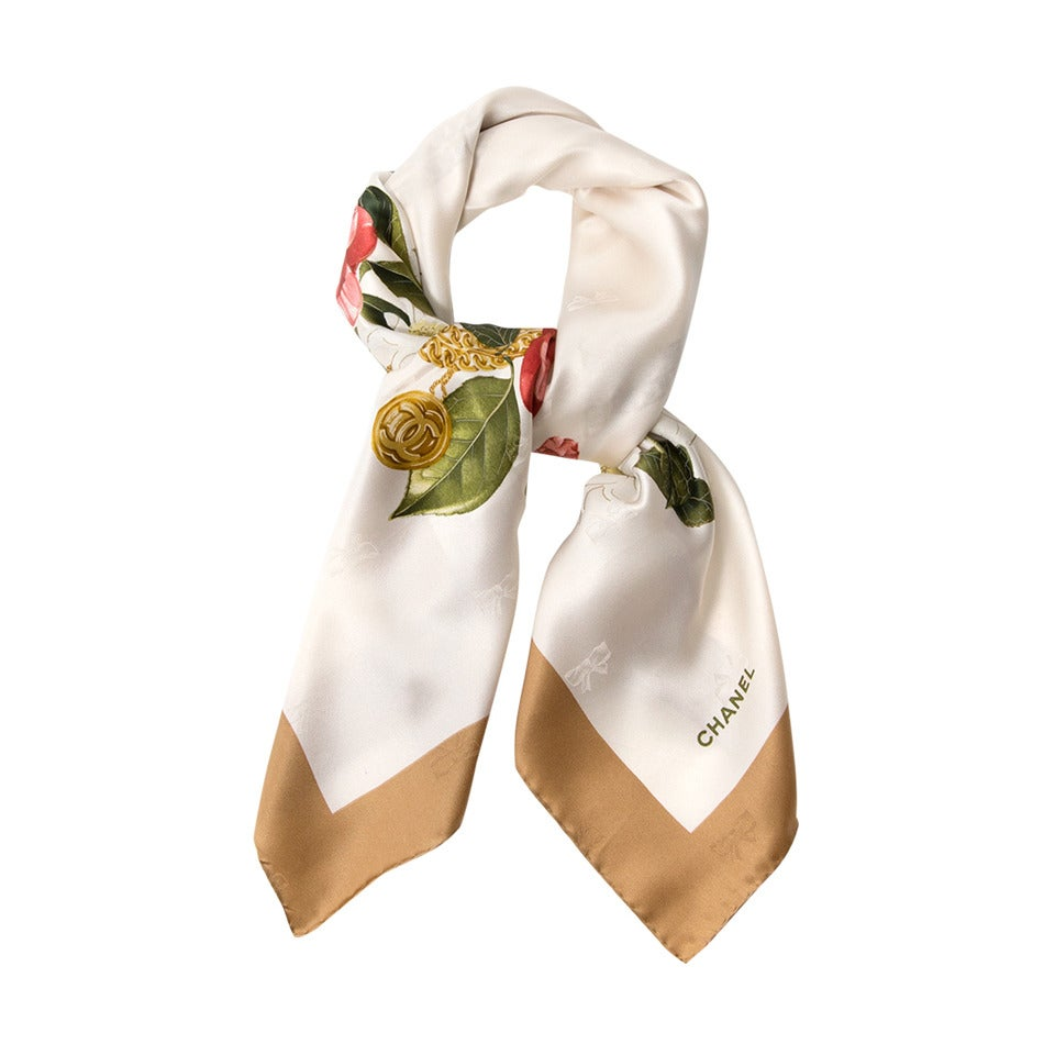 Chanel Floral Scarf 1