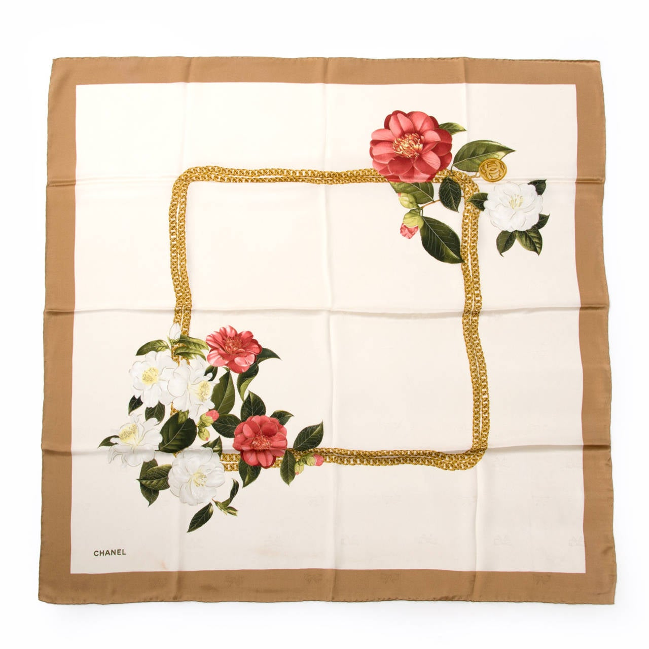 Chanel Floral Scarf 2