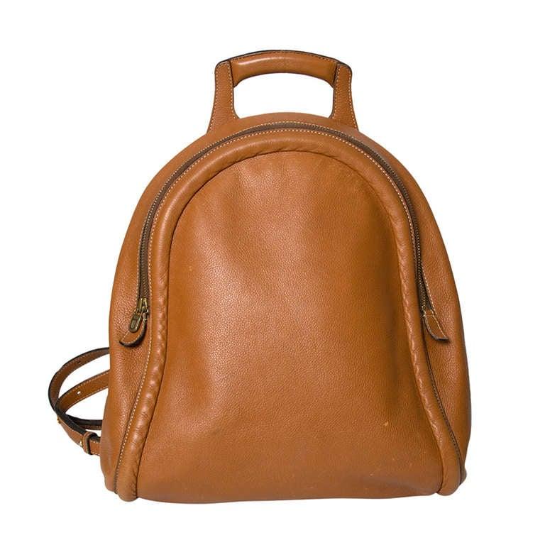 Delvaux Cognac Backpack 1