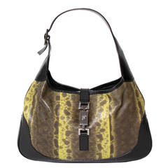 Gucci Jackie Lizard Handbag