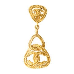Chanel Gold Earing / Brooch
