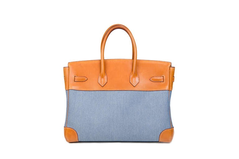 Hermès Birkin 35 Denim Canvas 4