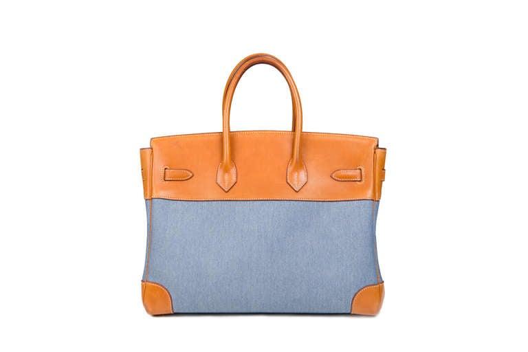 Women's Hermès Birkin 35 Denim Canvas For Sale