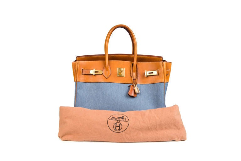 Hermès Birkin 35 Denim Canvas 10