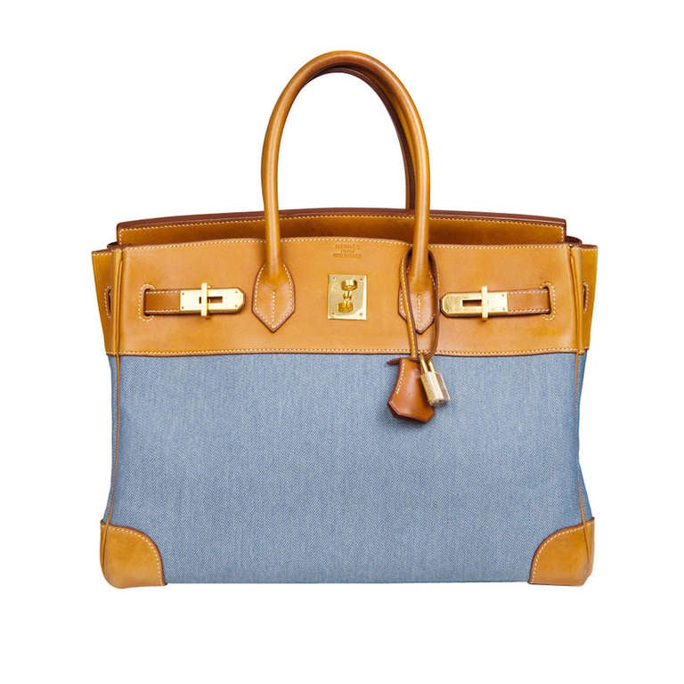 Hermès Birkin 35 Denim Canvas 1