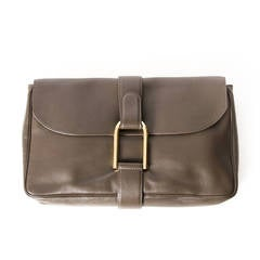 Delvaux Clutch Taupe