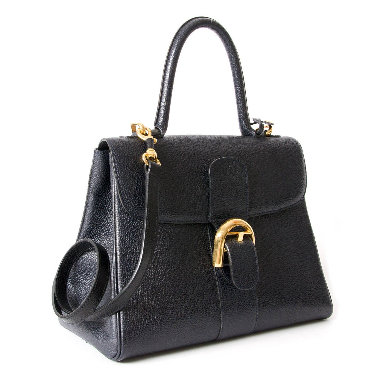 Delvaux Dark Blue Brillant MM