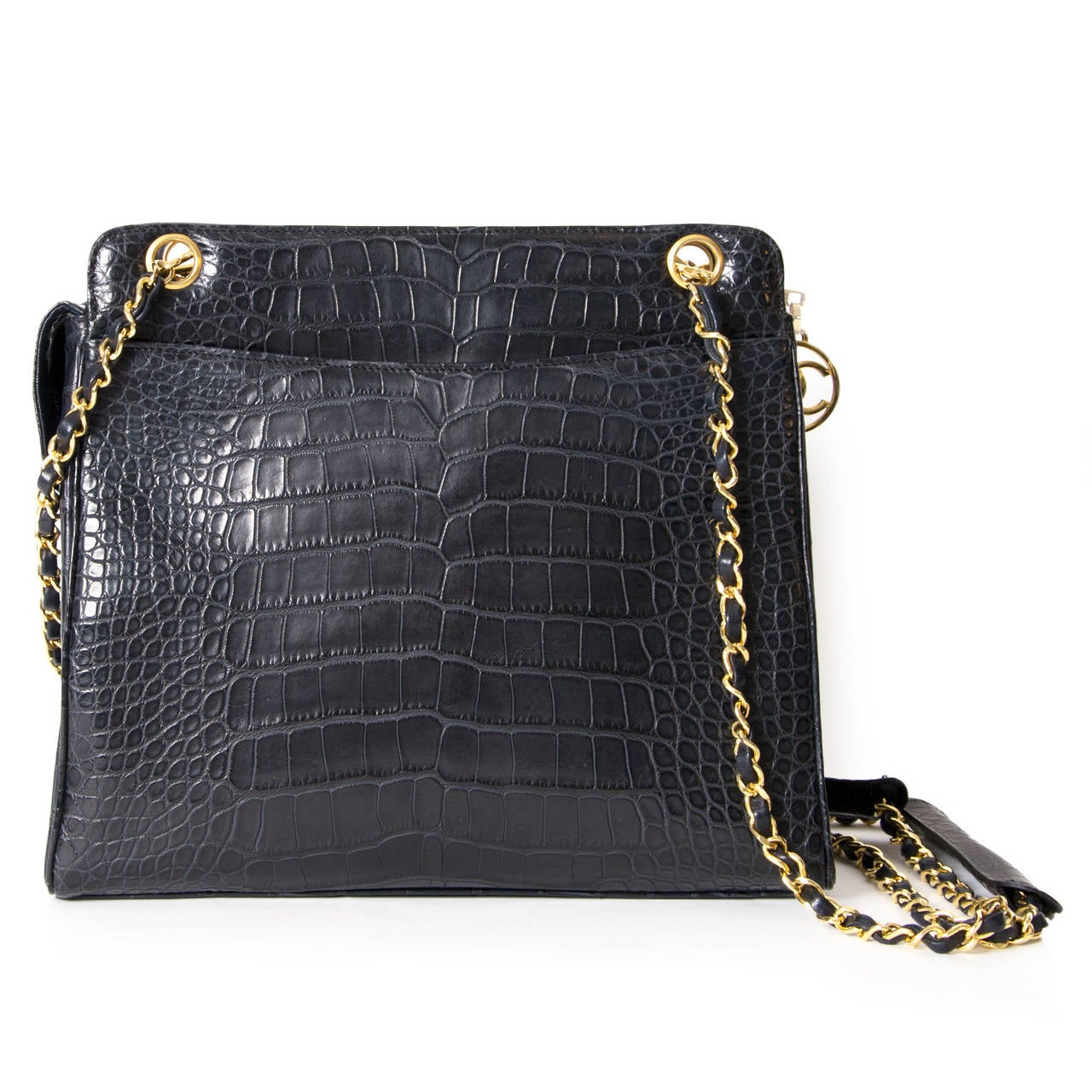 Chanel Vintage Croco Shoulder Bag At 1stdibs