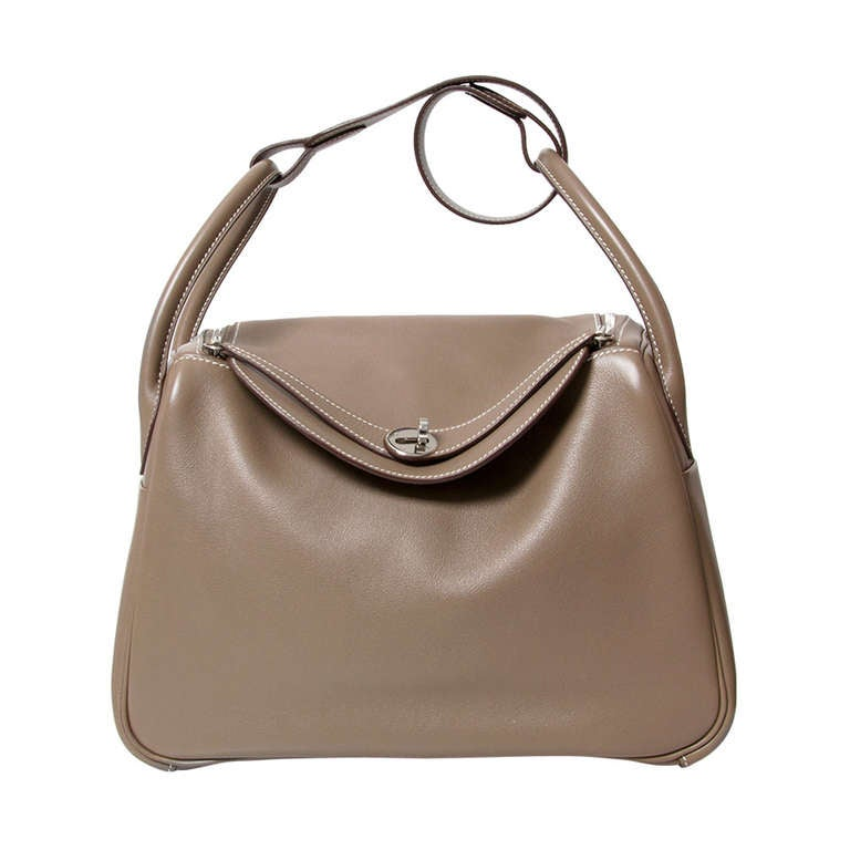 907afb4ede ... new style hermes lindy taupe grey veau swift leather for sale d2729  5ea27