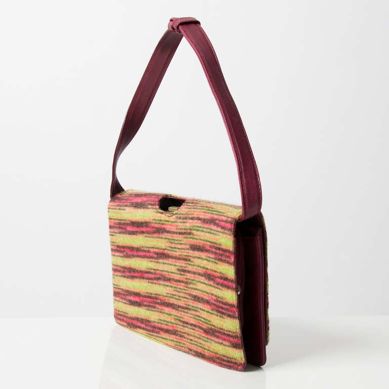 Missoni Leather and Wool Leather Bag at 1stdibs
