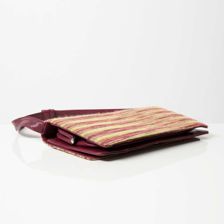 Missoni Home Gravita Oman Leather: Missoni Leather And Wool Leather Bag At 1stdibs