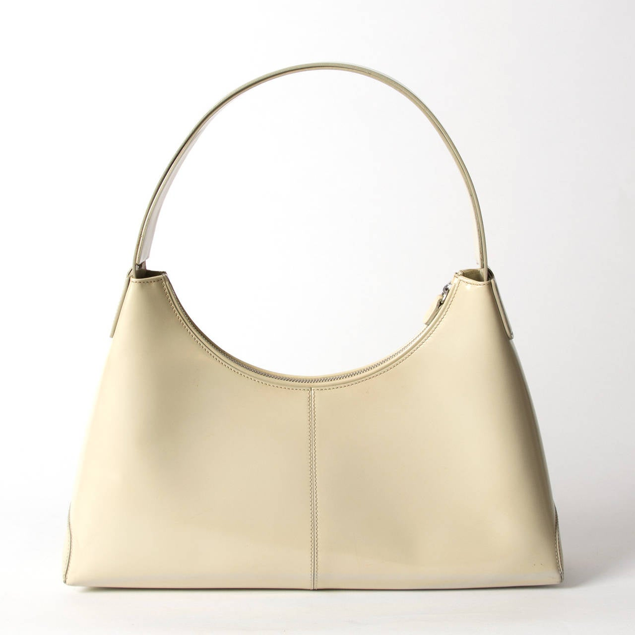 Beige Tod's Cream Shoulder Bag For Sale