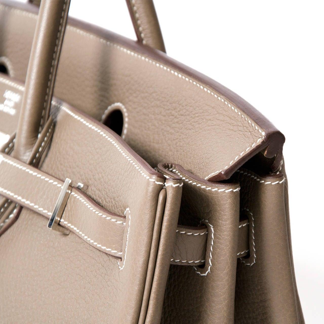 Hermès Birkin Bag 40cm Togo Etoupe Grey PHW 7