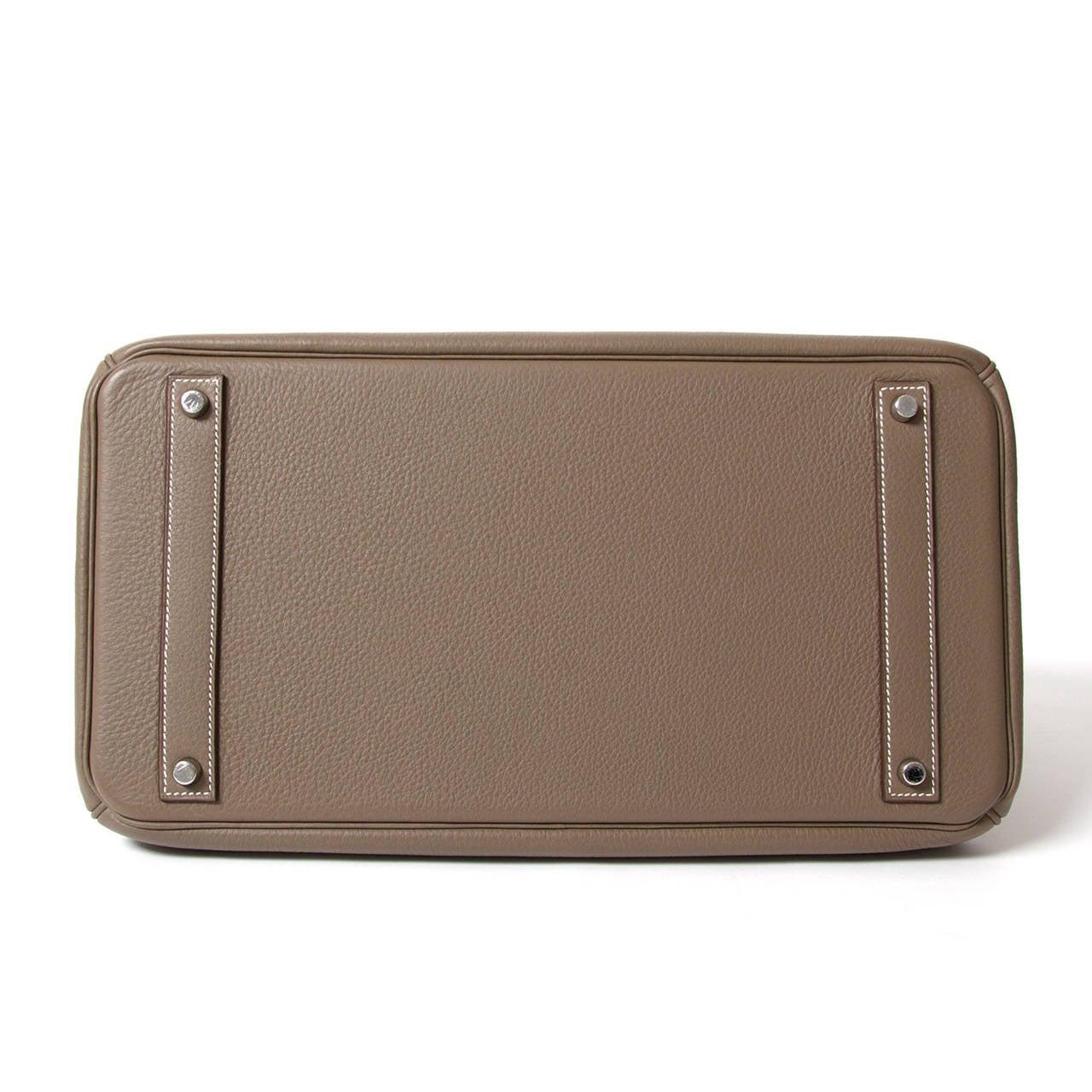 Hermès Birkin Bag 40cm Togo Etoupe Grey PHW 4