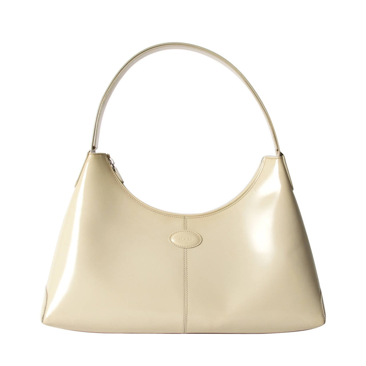 Tod's Cream Shoulder Bag For Sale
