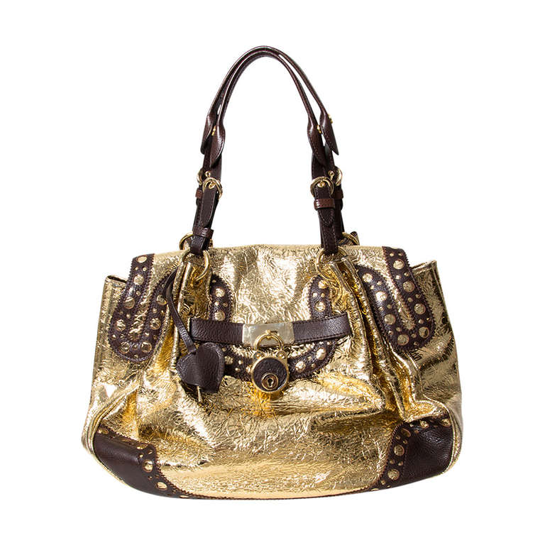 Moschino Metallic Gold Large Tote